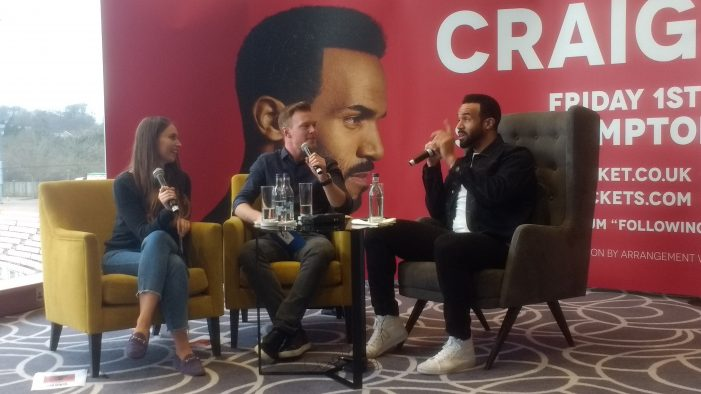 WINOL EXCLUSIVE: Craig David announces homecoming show in Southampton
